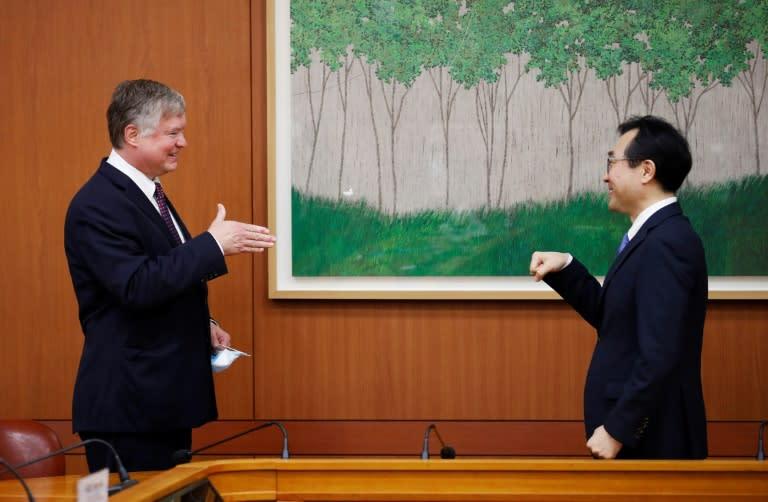 US Deputy Secretary of State Stephen Biegun met his South Korean counterpart Lee Do-hoon in Seoul