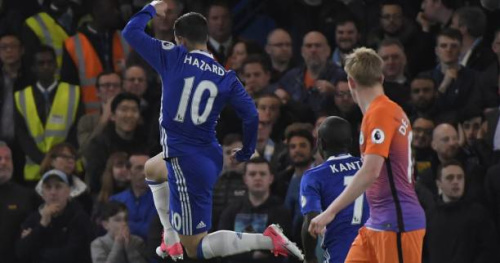 Foot - ANG - Angleterre : Chelsea dompte Manchester City grâce à un super Eden Hazard