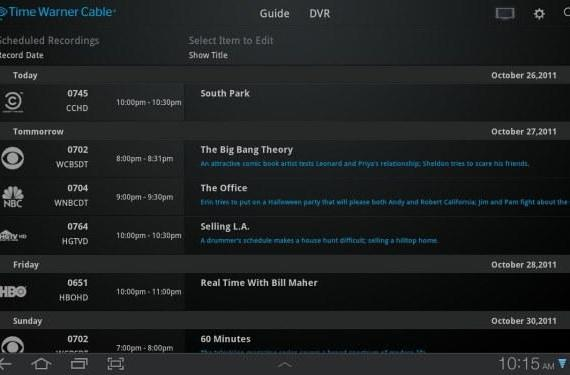 Time Warner Cable's tablet app available for Android, live TV streaming still iPad only