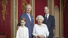 Prince George Shines in New Portrait With Queen Elizabeth, Prince William and Prince Charles