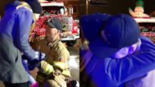 This firefighter proposed to his girlfriend and her 2-year-old in the most adorable way possible