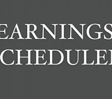 Earnings Scheduled For July 17, 2020