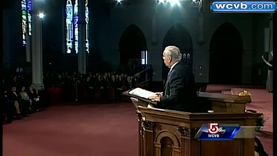 Uncut: Boston Mayor Tom Menino's reflection at service