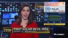 First Solar revenues miss, Roku beats earnings