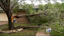 Cleanup Begins After Storms In Kaufman