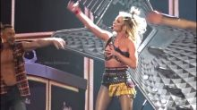 Oops! Britney brushes off her wardrobe malfunction in Las Vegas