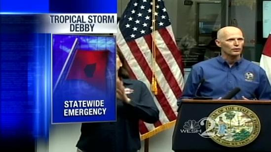 TS Debby speeds up