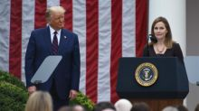 Trump says overturning Roe v Wade 'possible' with Barrett on supreme court
