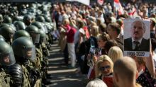 Tens of thousands march in Belarus capital despite crackdown
