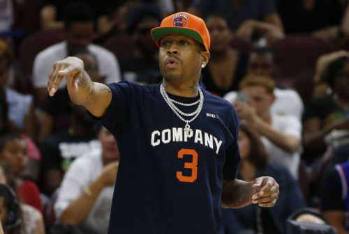 Allen Iverson coaches his team during a game July 16. (AP)