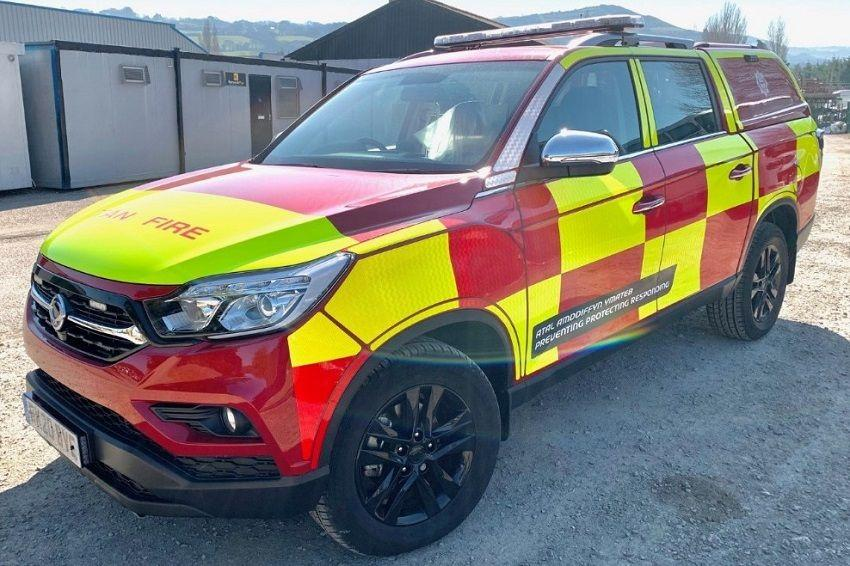 SsangYong Musso Chosen As North Wales Fire Fighters' Official Vehicle
