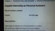 Internet unleashes fury after charity fighting slavery posts ad for unpaid intern