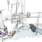 An ICU nurse sketches the heroes and fighters inside a coronavirus isolation ward