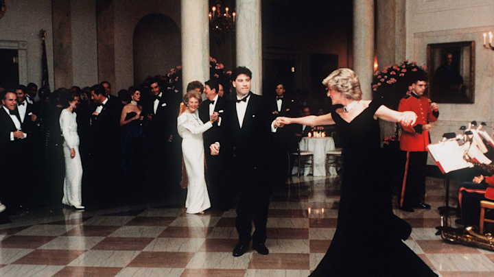 Travolta on the night he danced with Diana