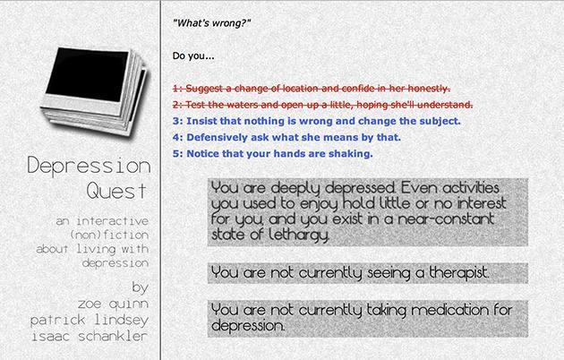 Text adventure 'game' offers a taste of what clinical depression is like