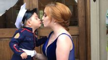 On-duty Marine managed to take his girlfriend to prom — with the cutest twist