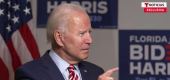 A screenshot from the Telemundo interview this month with Joe Biden. (Telemundo)