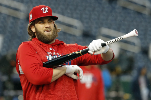 Washington Nationals' star Bryce Harper is already influencing his peers. (AP)
