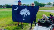 After 3,000 miles, 7 months, couple's walk to help families with illness ends in SC