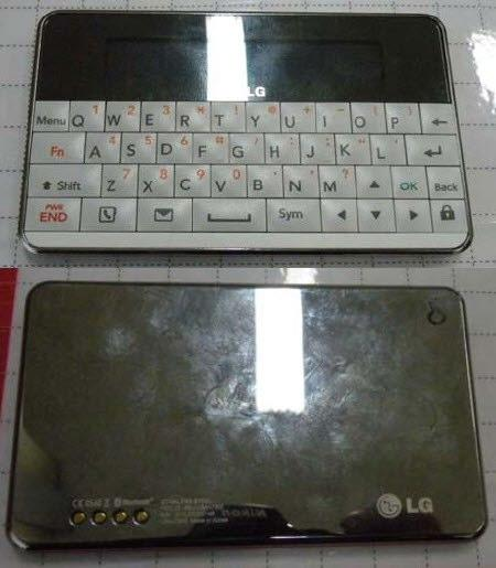 LG's LBA-C300 Bluetooth 'QWERTY Card' is the best calculator look-alike you've seen all week