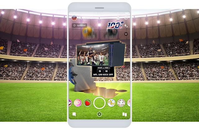 NFL celebrates 100th season with Snapchat AR Lens that comes to life