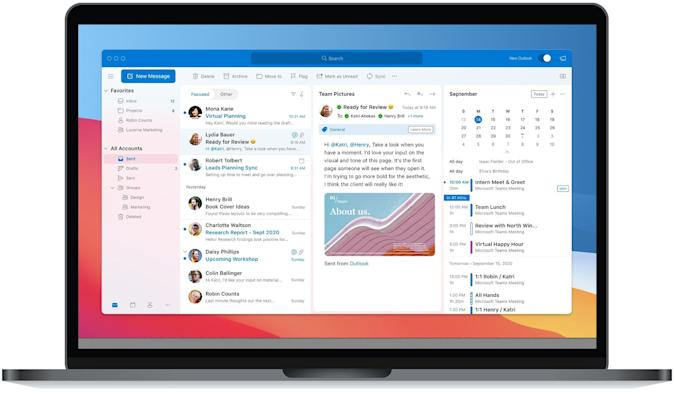 Redesigned Outlook for macOS