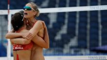 Olympics-Beach Volleyball-Canada stroll into last-16, China, Brazil follow suit