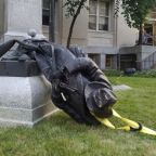 Woman arrested for helping to topple Confederate statue in North Carolina
