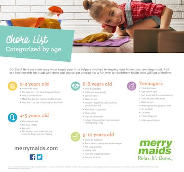 merry maids makes summer chores a blast for kids
