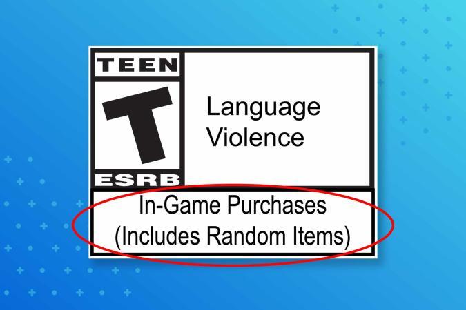 ESRB loot box (random items) label