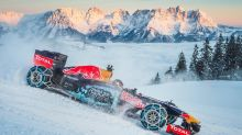 Watch A Teenager Drift An F1 Car Up A Snowy Ski Slope