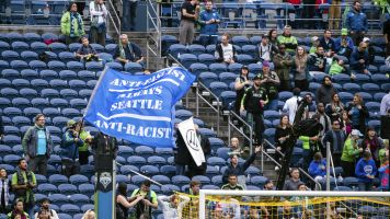 Sounders fan club walks out of match in protest