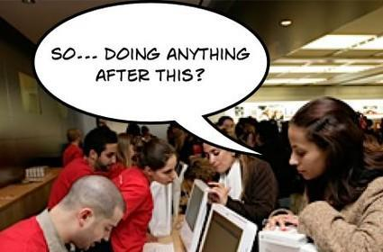 Meet guys at the Apple Store
