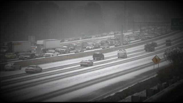 Winter Weather Forces Drivers to Abandon Cars