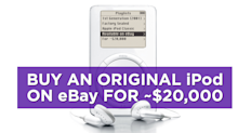 A 1st Generation iPod is on eBay for ~$20,000