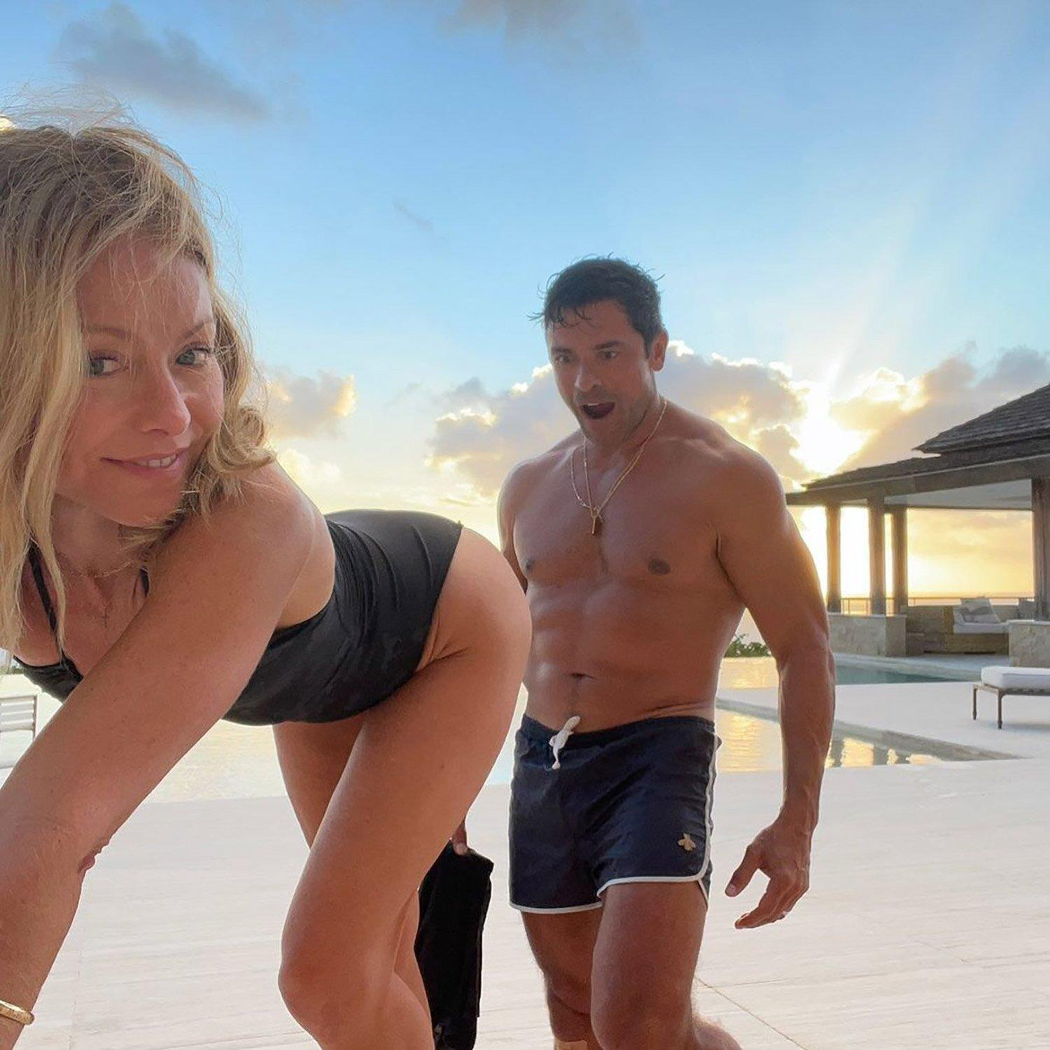 Kelly Ripa Gives Husband Mark Consuelos an Eyeful in Cheeky Instagram Post: 'The End Is in Sight'