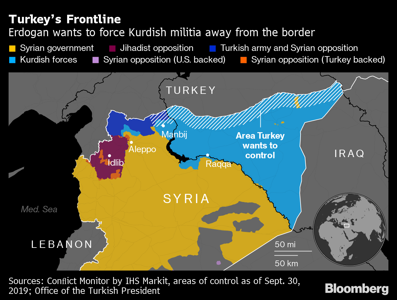 Turkey Launches Ground Incursion Into Syria as U.S. Stands Aside