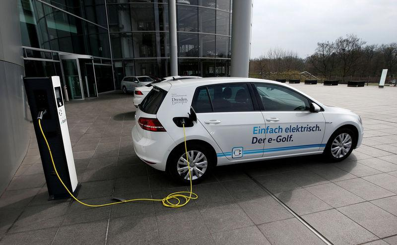 File Photo Vw E Golf Electric Car Charges Outside The Transpa Factory In Dresden