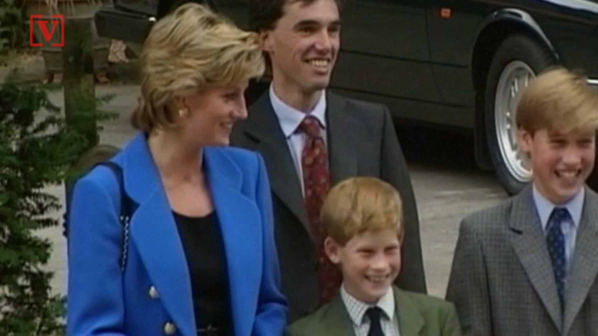 Princess Diana with William and Harry.