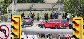 Officer killed in burst of violence outside Pentagon
