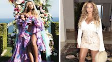 Beyonce's back in a corset a month after giving birth