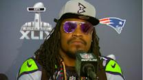 Seattle Seahawks running back Marshawn Lynch to media: 'You know why I'm here'