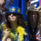The Latest: Protesters in London demand halt to Brexit