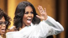 Power dressing: Michelle Obama has released book tour merchandise