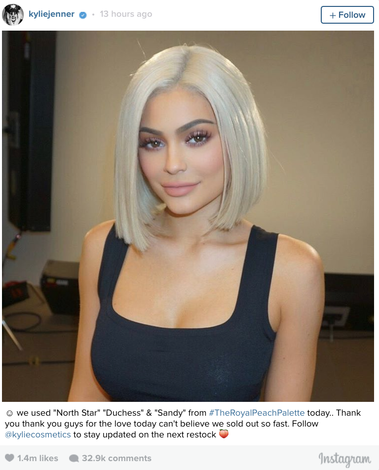 Kylie Jenner Has New Platinum Blonde Bob Making