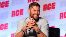 Chris Hemsworth's huge bicep has prompted ridicule of his leg muscles - from his own brother