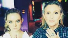 Billie Lourd Honors Late Mother Carrie Fisher in   Star Wars Day Tribute