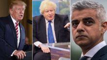 Boris Johnson refuses to back London Mayor Sadiq Khan after Donald Trump's extraordinary attack