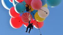 David Blaine's helium balloons stunt