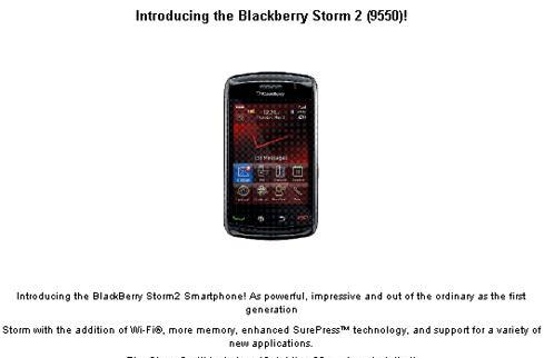 Verizon launching Storm2 on October 28 for $179.99?